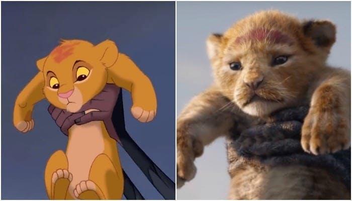 Jämförelse mellan CGI SImba och tecknad Simba