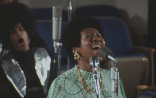 Aretha Franklin sjunger i Amazing Grace