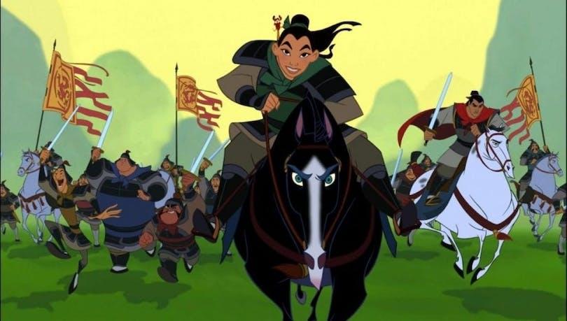 Mulan på häst