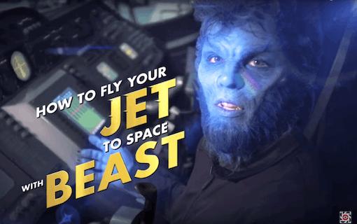 The Beast visar hur man flyger rymdskepp i roligt klipp