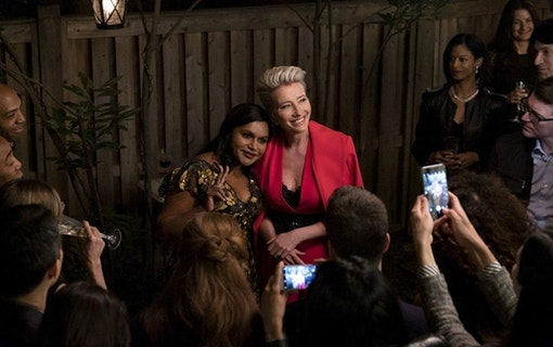 "Emma Thompson och Mindy Kaling i ""Late Night""."