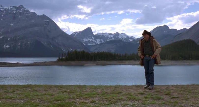 Jake Gyllenhaal i Brokeback Mountain.