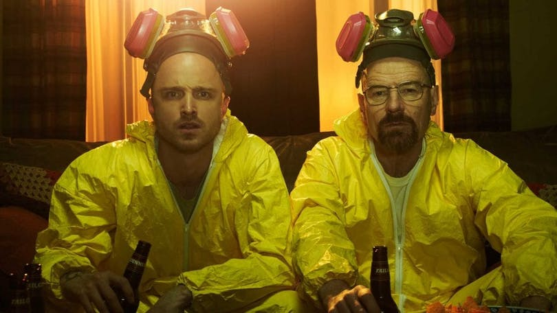 "Aaron Paul och Bryan Cranston i originalserien ""Breaking Bad"""