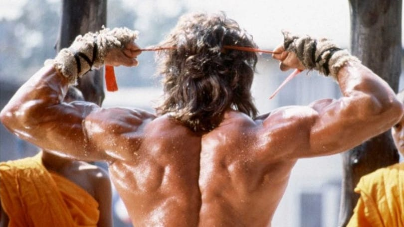 Rambos muskulösa rygg