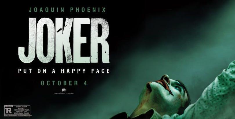 Affisch till Joker med Joaquin Phoenix.