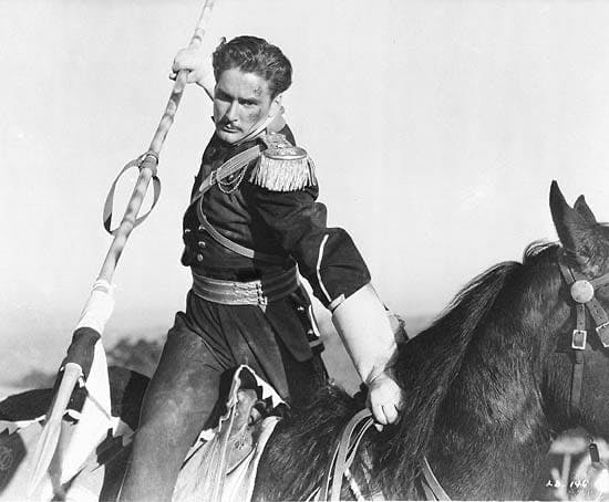 Errol Flynn på häst.