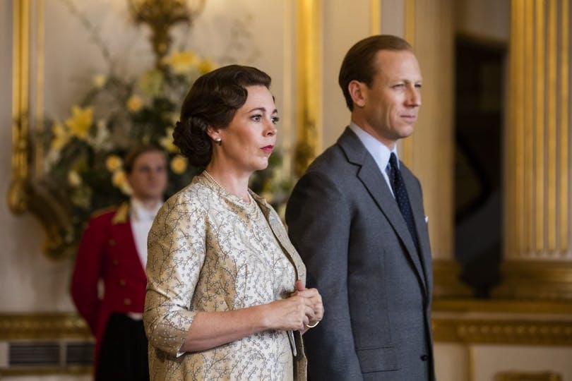 "Olivia Colman och Tobias Menzies i ""The Crown""."