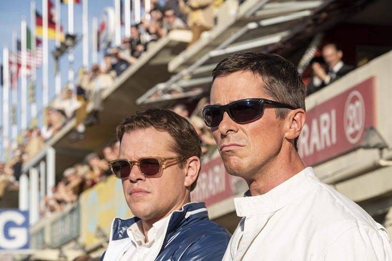 Matt Damon och Christian Bale i ''Le Mans '66''.