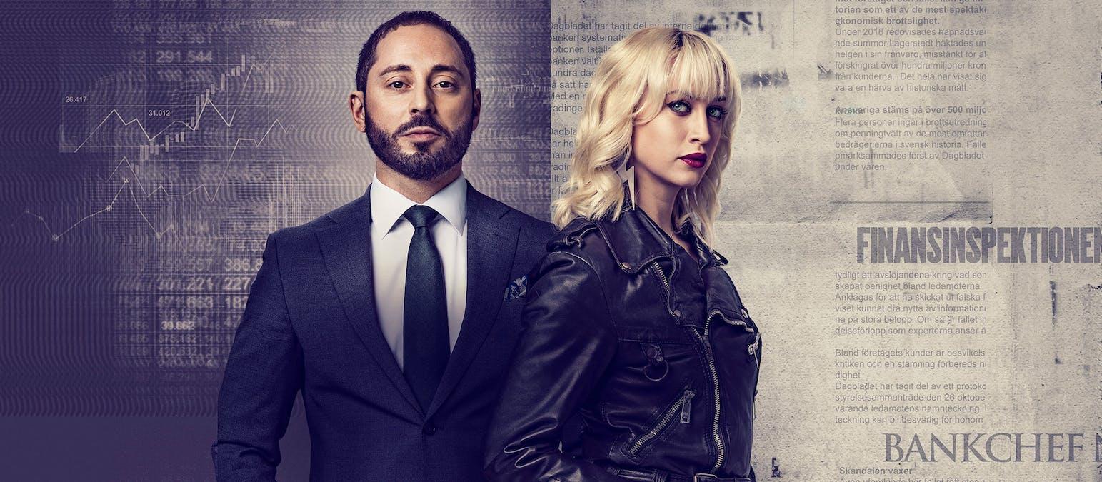 Matias Varela och Julia Ragnarsson i Fartblinda säsong 1