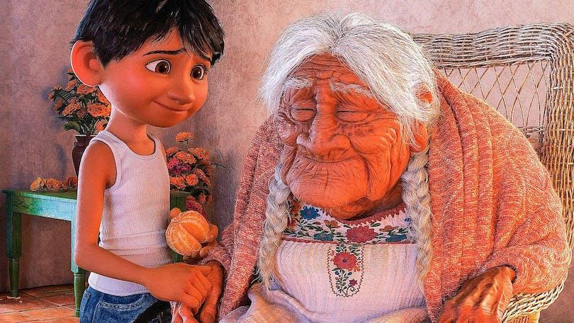 Miguel och Coco i Coco.