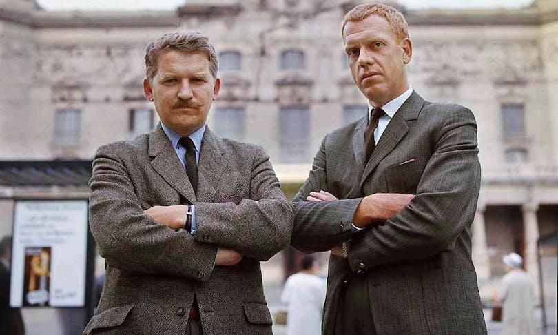 """Hans Alfredsson och Tage Danielsson också kända som """"Hasse och Tage""""."""