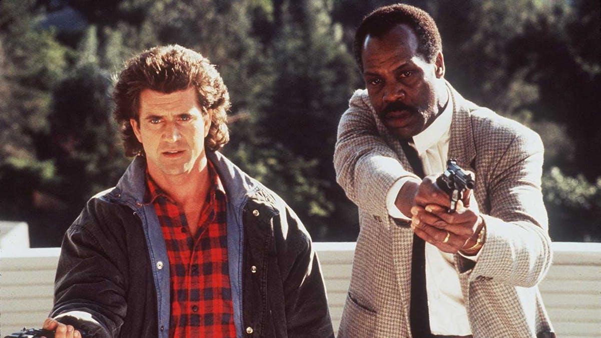 Mel Gibson och Danny Glover och Danny Glover i Dödligt vapen