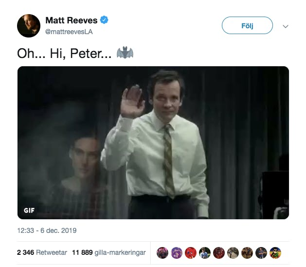 Matt Reeves Tweet
