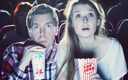 Couple Watching Cinema