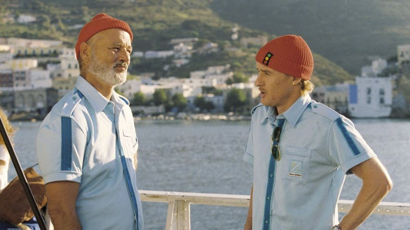 "Bill Murray och Owen Wilson i ""Life Aquatic"" (2004)."