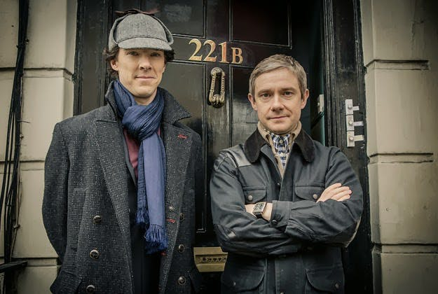 Cumberbatch och Freeman som Holmes och Watson