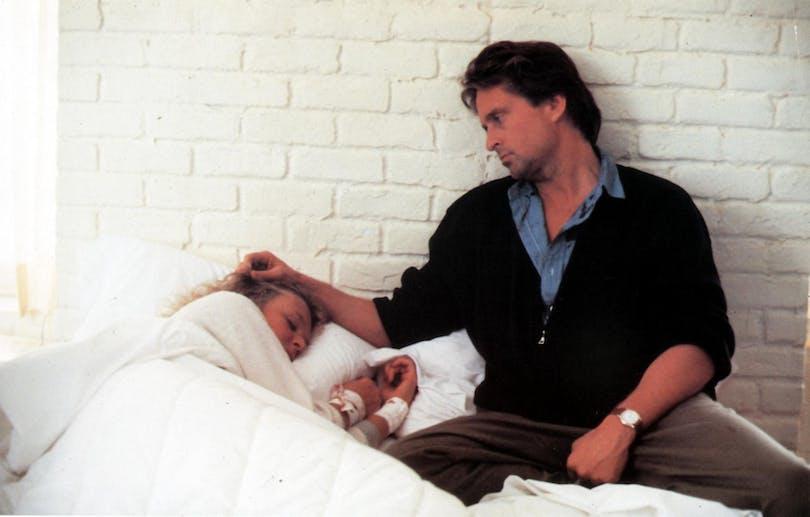 """MIchael Douglas och Glenn Close i """"Farlig förbindelse""""."""