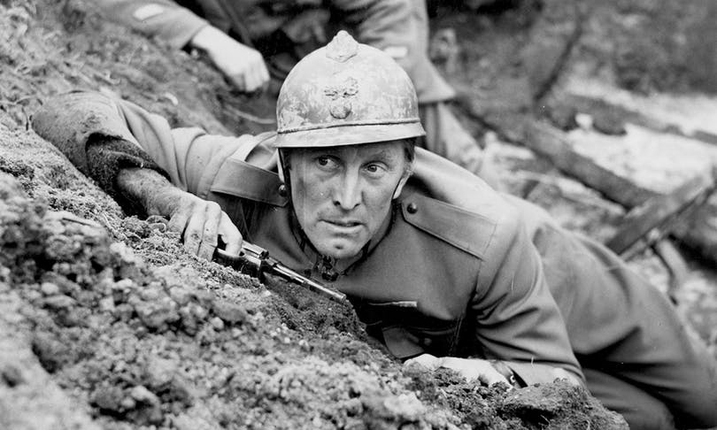 "Kirk Douglas i Stanley Kubricks ""Path of Glory""."