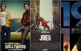 Kollage med de filmer som har flest Oscarsnomineringar i år: Once Upon a Time... in Hollywood, Joker och 1917. Foto: ABC15 Arizona.