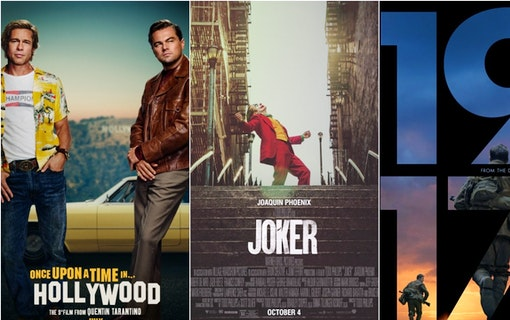 Kollage med de filmer som har flest Oscarsnomineringar i år: Once Upon a Time... in Hollywood, Joker och 1917. Foto: ABC15 Arizona.