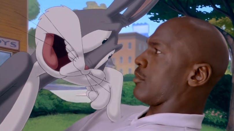 Bugs bunny och Michael Jordan