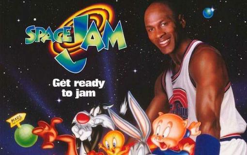 Michael Jordan med Looney Toons