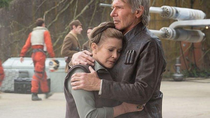 "Harrison Ford och Carrie Fisher i ""The Force Awakens""."