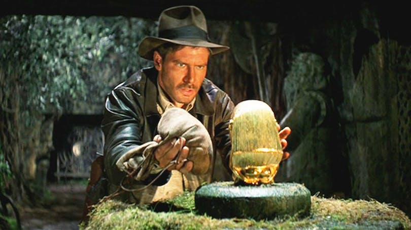 """Indiana Jones i """"Jakten på den försvunna skatten""""."""