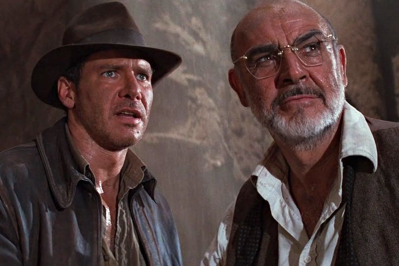 "Harrison Ford och Sean Connery i ""Indiana Joens 3""."