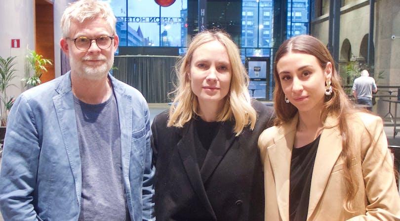 Joachim Hedén, Moa Gammel och Madeleine Martin.