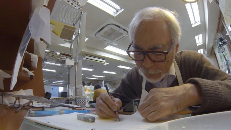 Miyazaki in action.