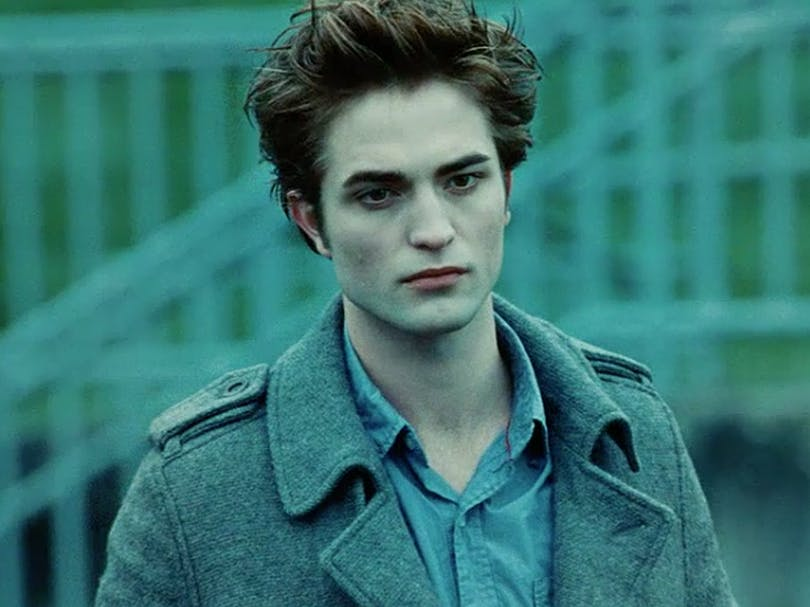 "Robert Pattinson som Edward Cullen i ""Twilight"" (2008)."