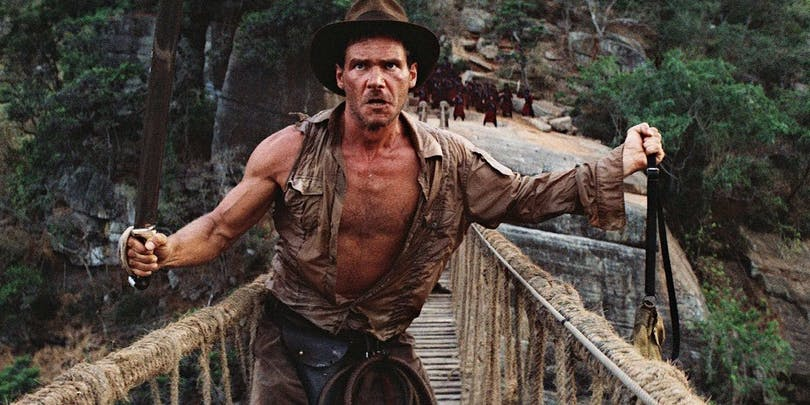 Indiana Jones i Temple of Doom.