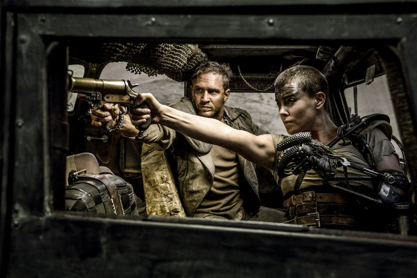 Tom Hardy och Charlize Theron i Mad Max: Fury Road.