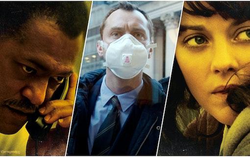 Affisch till filmen Contagion från 2011 med bland andra Laurence Fishburne och Kate Winslet. Foto: Warner Bros. Pictures.