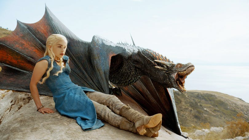 Daenerys Targaryen i Game of Thrones serien.