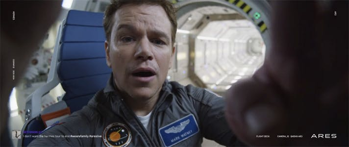 "Matt Damon i ""The Martian"""