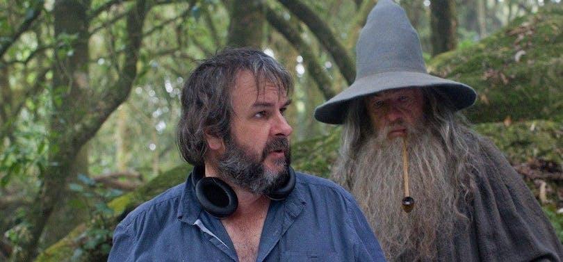 """Peter Jackson under inspelningen av """"The Hobbit""""."""
