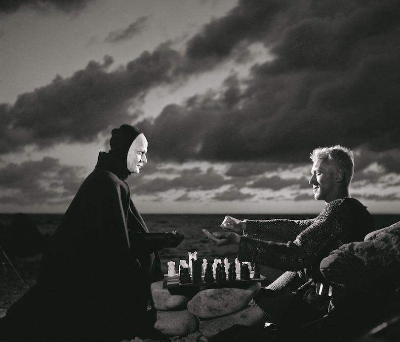 "Max von Sydow i ""Det sjunde inseglet""."
