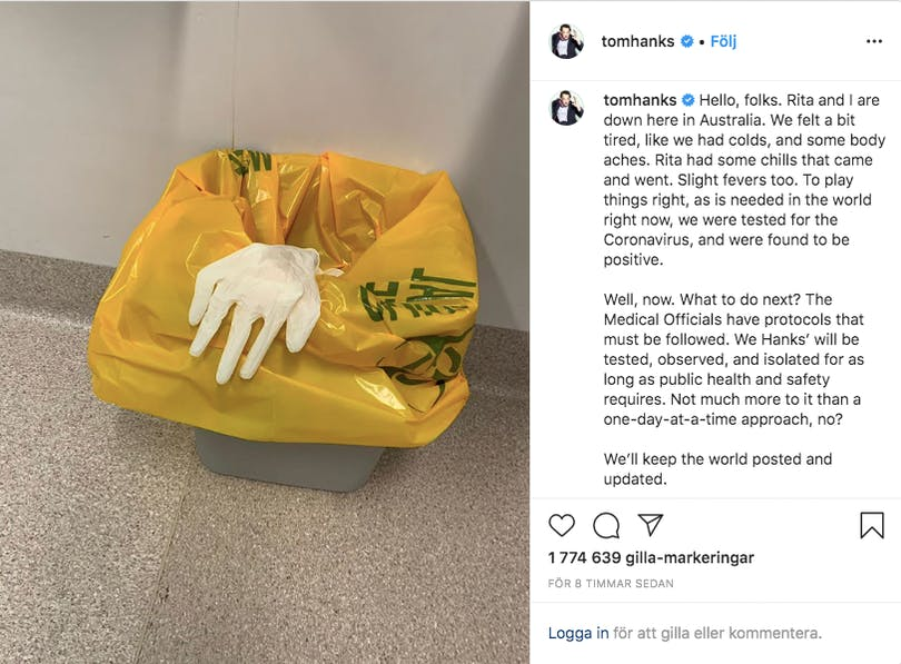 Tom Hanks instagram