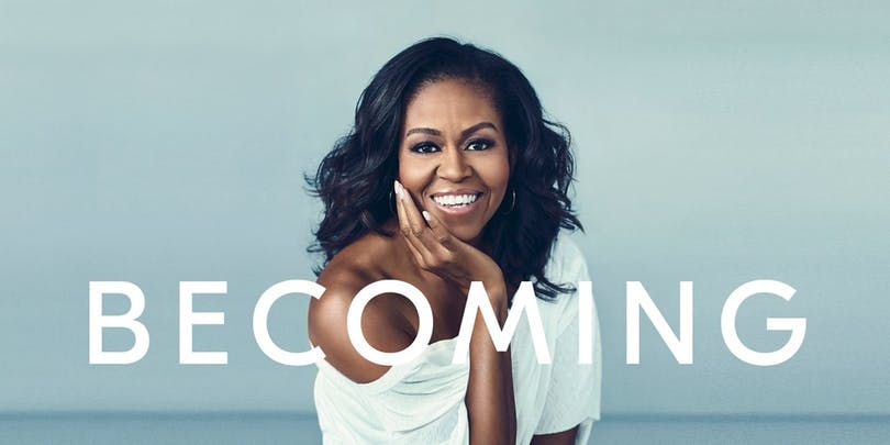 Michelle Obama på omslaget för Becoming
