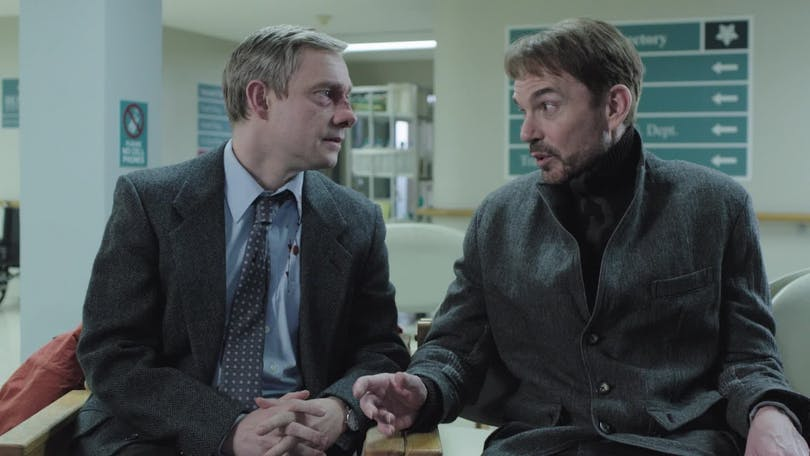 "Martin Freeman och Billy Bob Thornton i ""Fargo""."