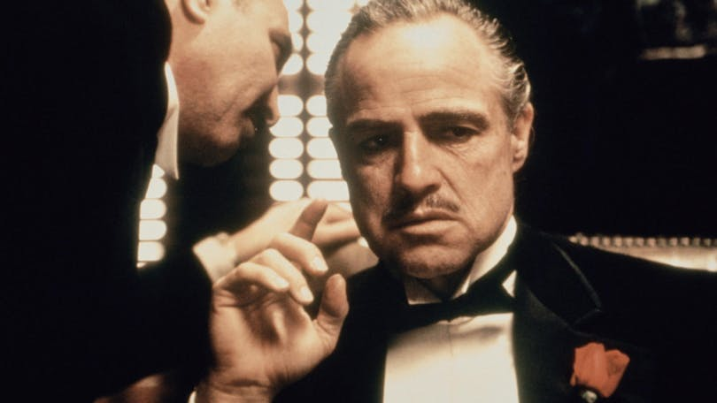 "Marlon Brando som Vito Corleone i ""Gudfadern""."