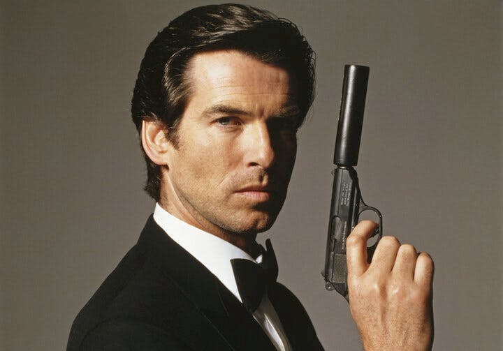 Pierce Brosnan som James Bond.