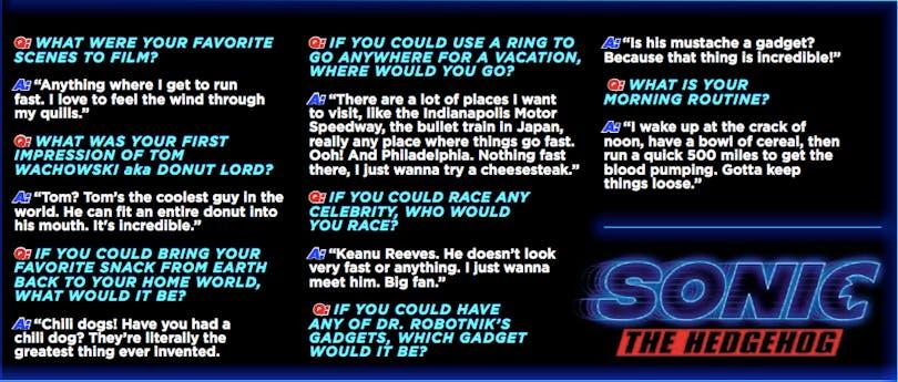Sonic svarar på frågor