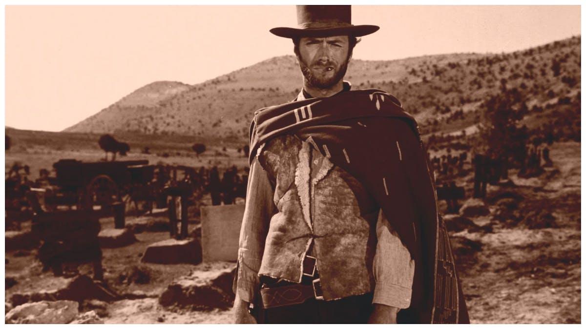 Clint Eastwood som Mannen utan namn i Den gode, den onde, den fule. Foto: United Artists