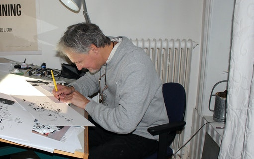 Johan Andreasson tecknar