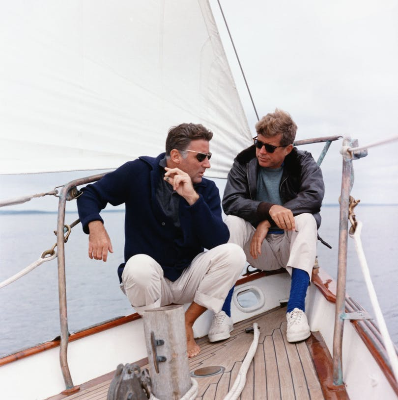 John F. Kennedy och Peter Lawford