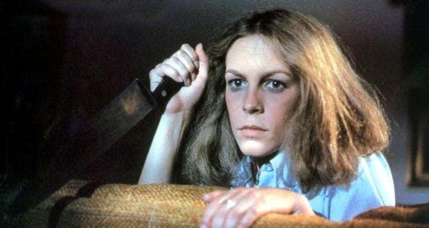 """Jamie Lee Curtis i """"Halloween"""" (1978)."""