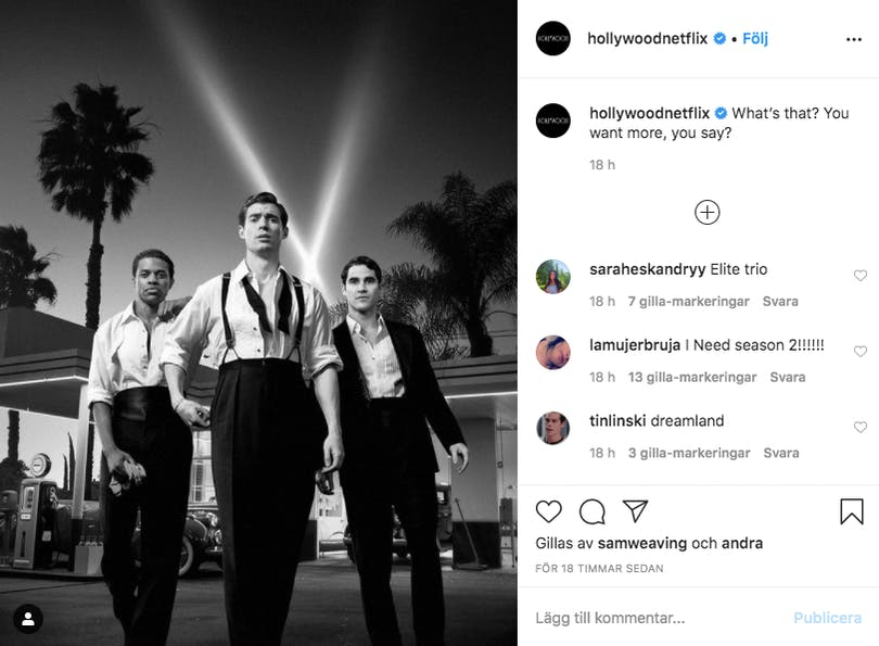 Hollywoods Instagramkonto